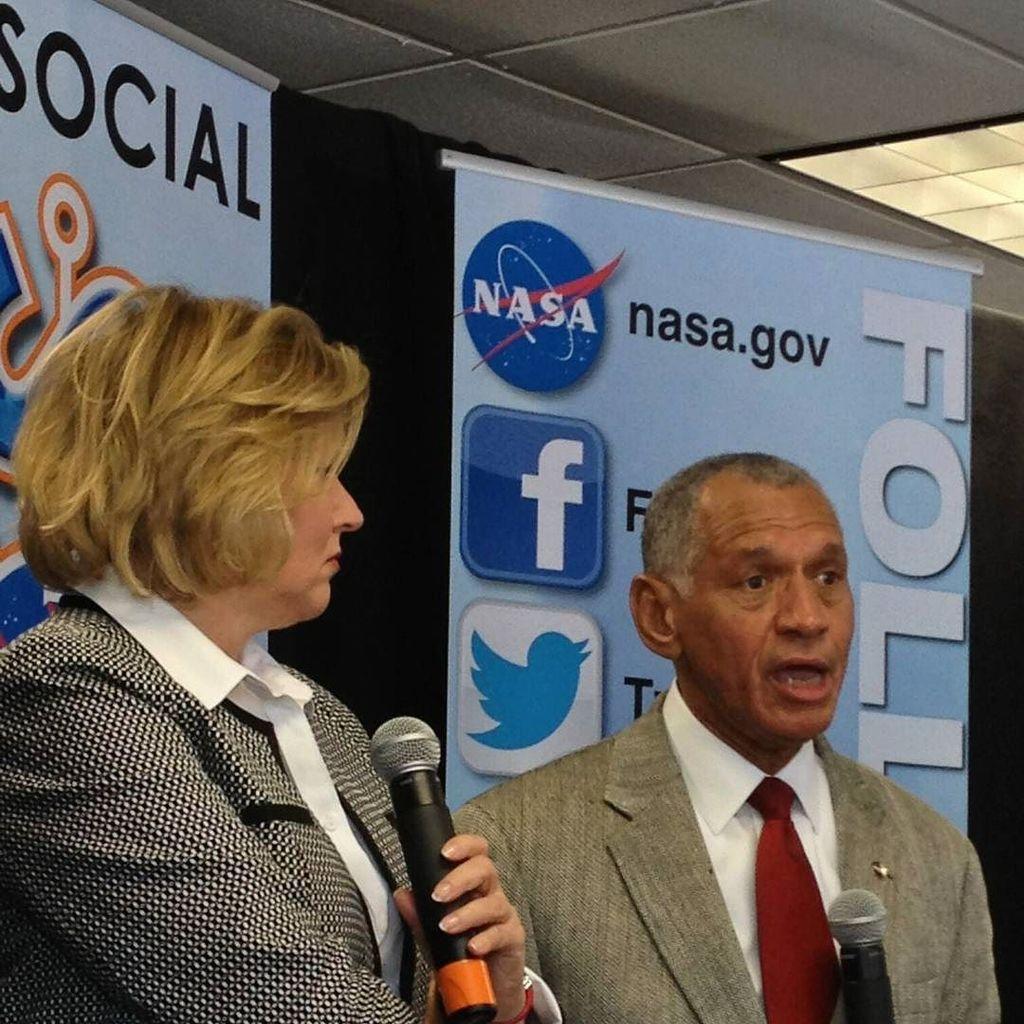 Enjoyed hearing @NASA Admin #CharlieBolden at #TDRSL #NASASocial. @NASASocial 1/23/14 #NASApast8years @NASAKennedy …