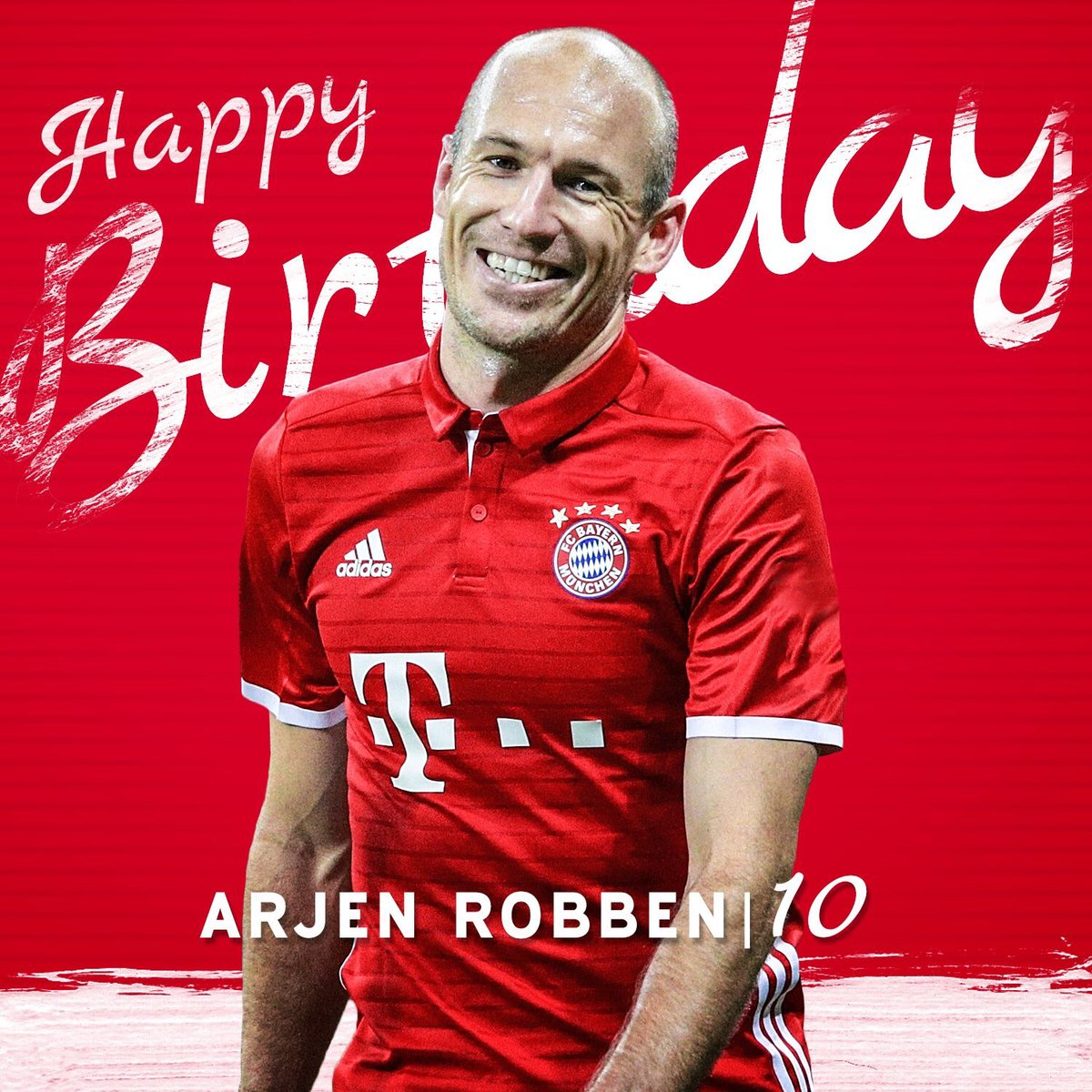 Happy 33rd birthday, @ArjenRobben! 🎉🎁🎂  #MiaSanMia https://t.co/N24TQ7...