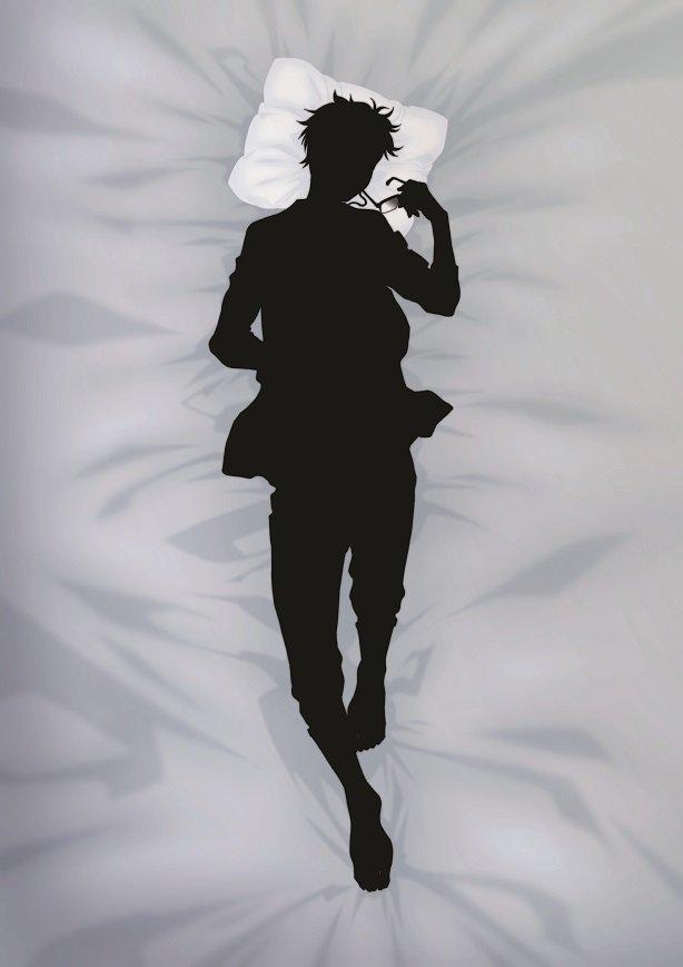 【ユーリ!!!onICE】描き下ろしイラストのシルエット公開させていただきます。キャラクターは勝生勇…
