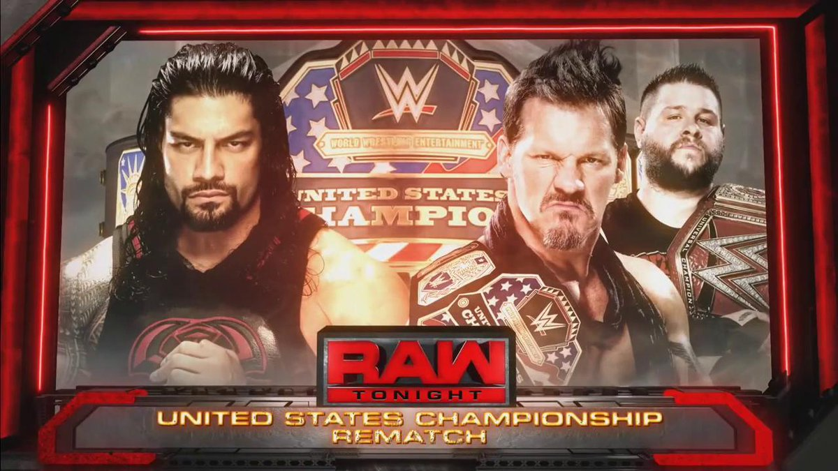 TONIGHT: @WWERomanReigns gets his rematch for the #USTitle when he bat...