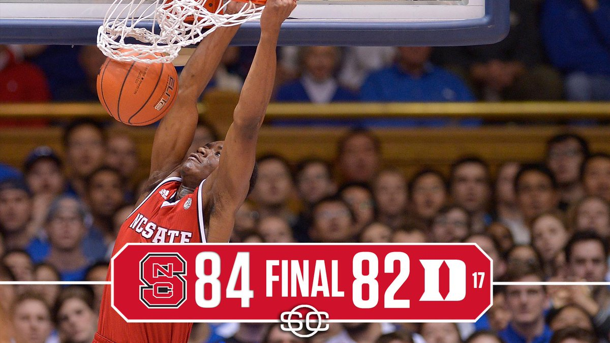 DOWN GOES DUKE!  NC State stuns No. 17 Blue Devils to win at Cameron I...