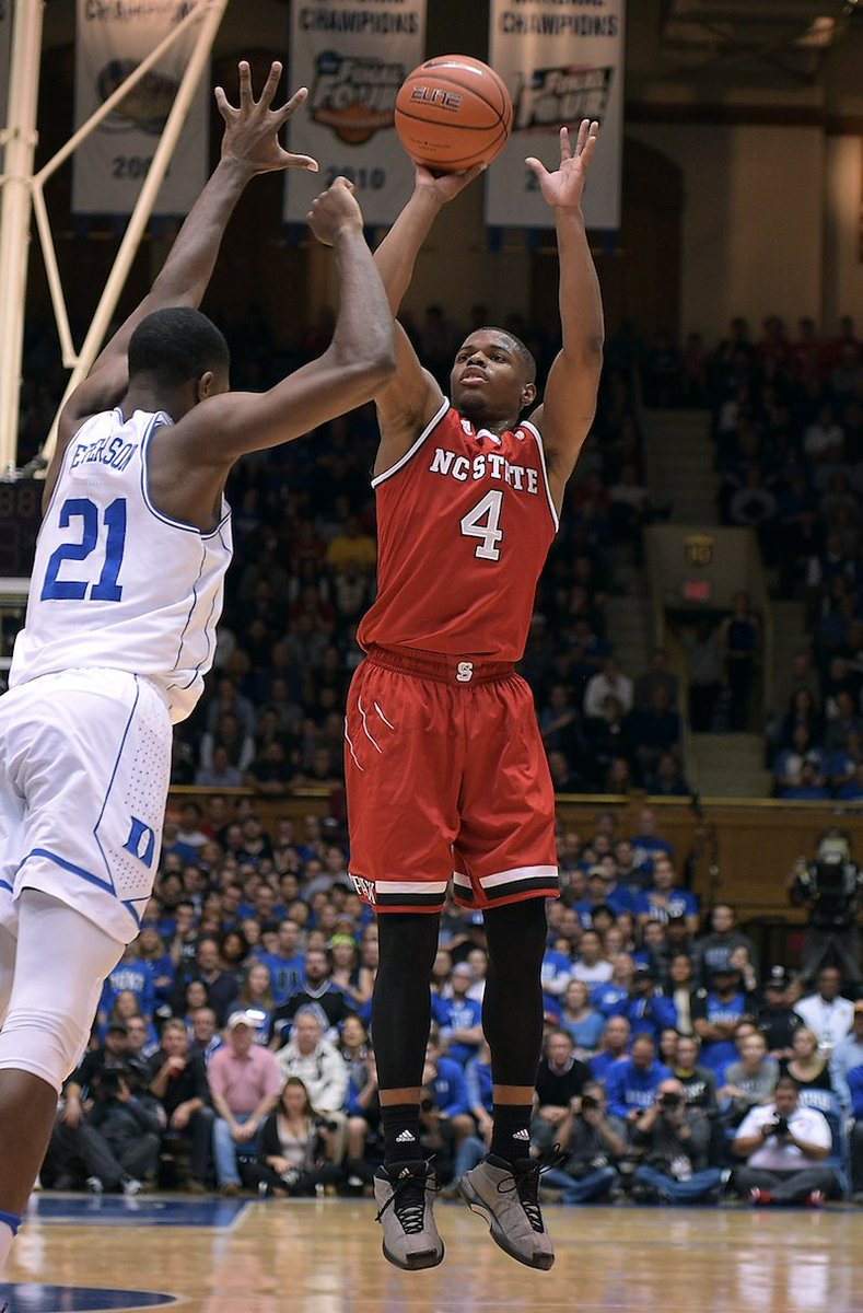 Down goes Duke!   NC State knocks off No. 17 Duke, 84-82. https://t.co...