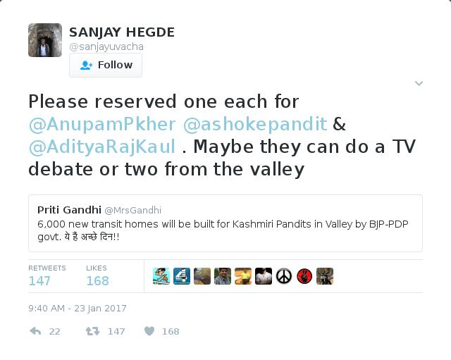 What a disgusting little insect @sanjayuvacha is