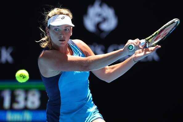 .@CoCoVandey knocks out Muguruza 6-4, 6-0!  Sets @AustralianOpen Semif...