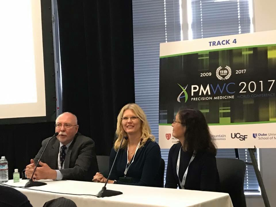 Talking about cancer genetics and representing @OSUCCC_James at the Precision Medicine World Conference today. #PMWC17 https://t.co/pZfWy6LjCQ
