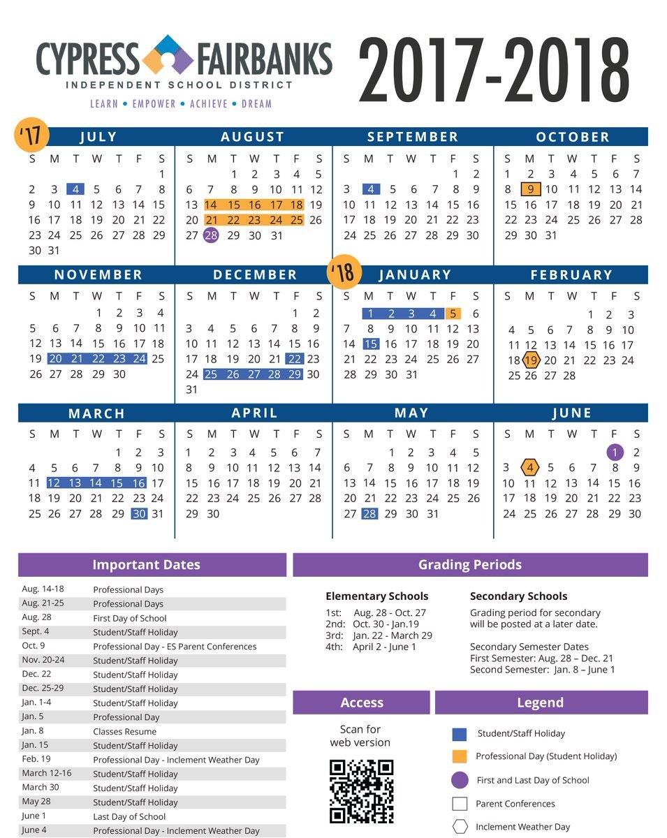Cfisdboard Roves 2017 2018 Instructional Calendar Http Www Cfisd En News Media District Board