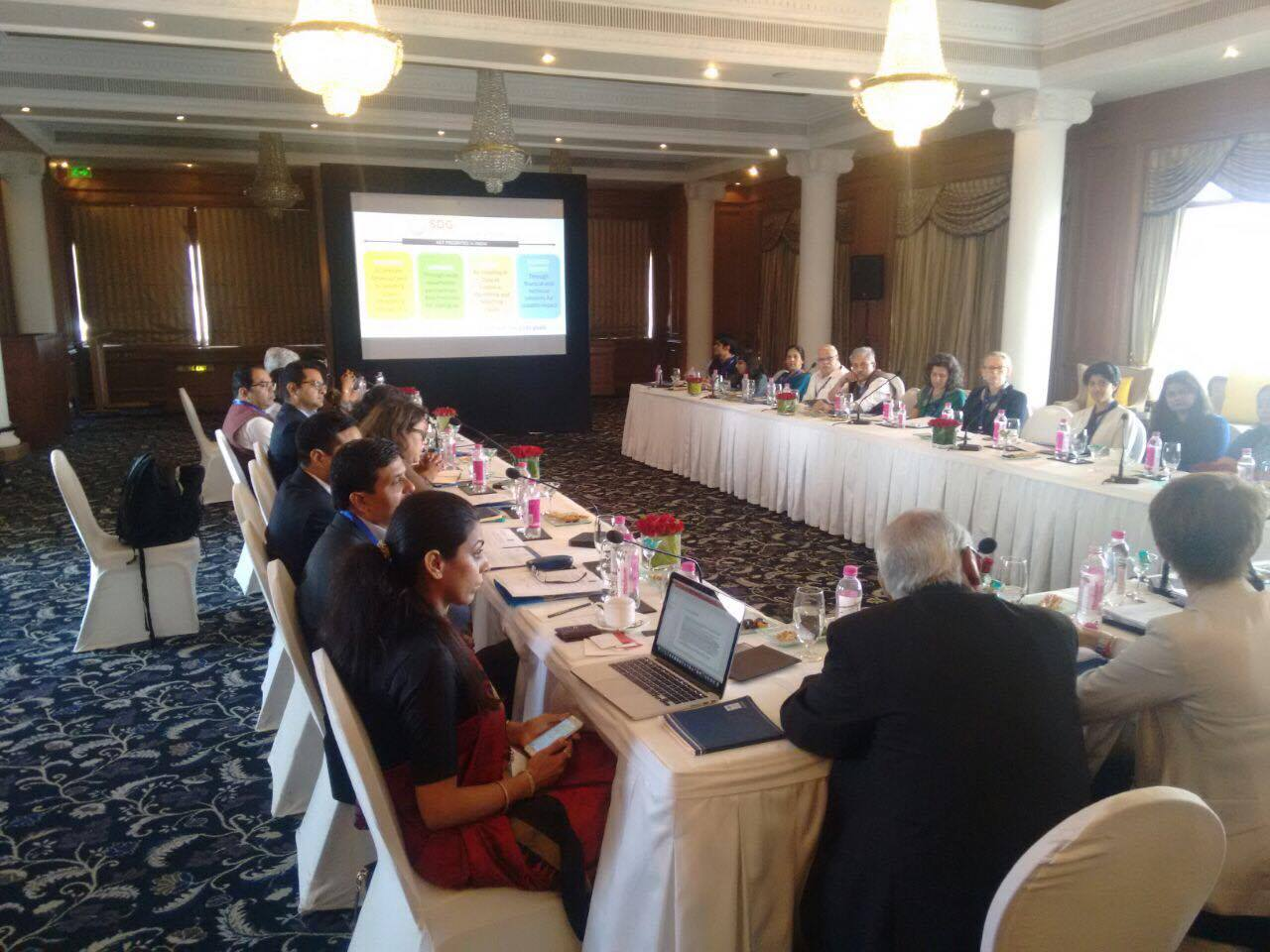 Roundtable to launch SDGPP to catalyze #partnerships for #SDGs in #India commences! @RockPhilanth @fdncenter @AvasantFound @StanfordAandE https://t.co/7LEt4qZ9Sg