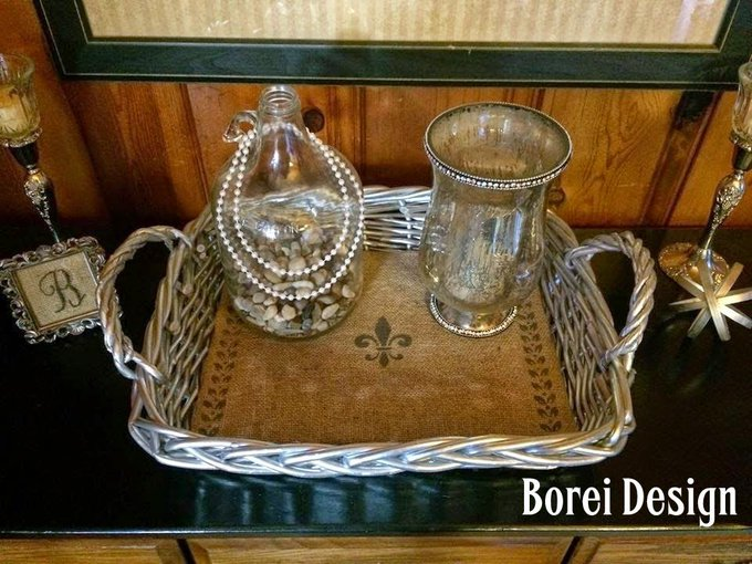 DIY: Thrifted Basket Serving Tray Goes from Blah to Ooh La La!