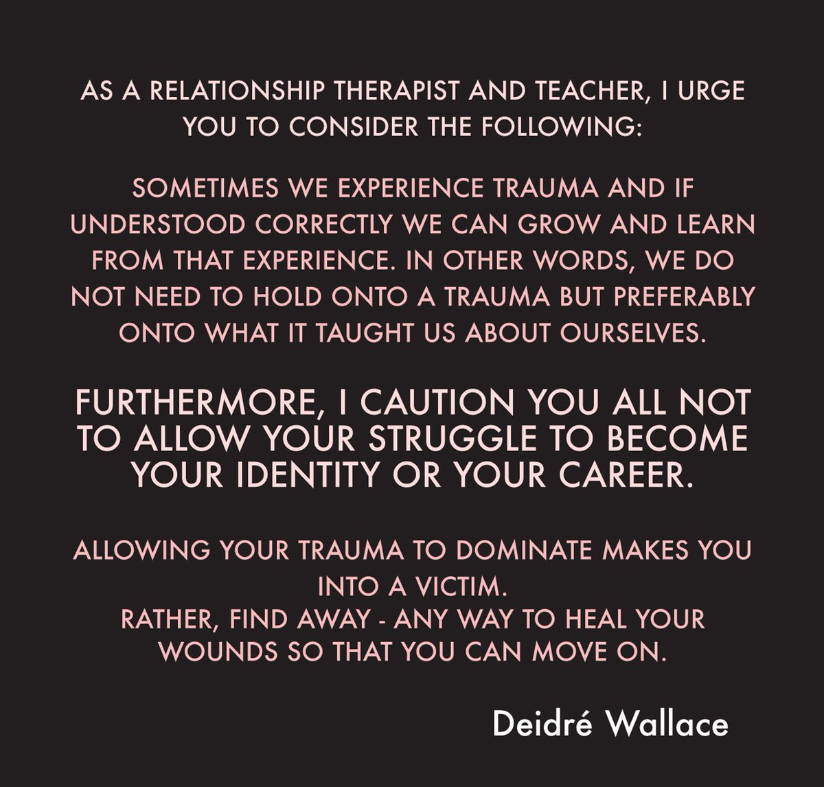 It's not good if you make you struggle your #identity. You may become...