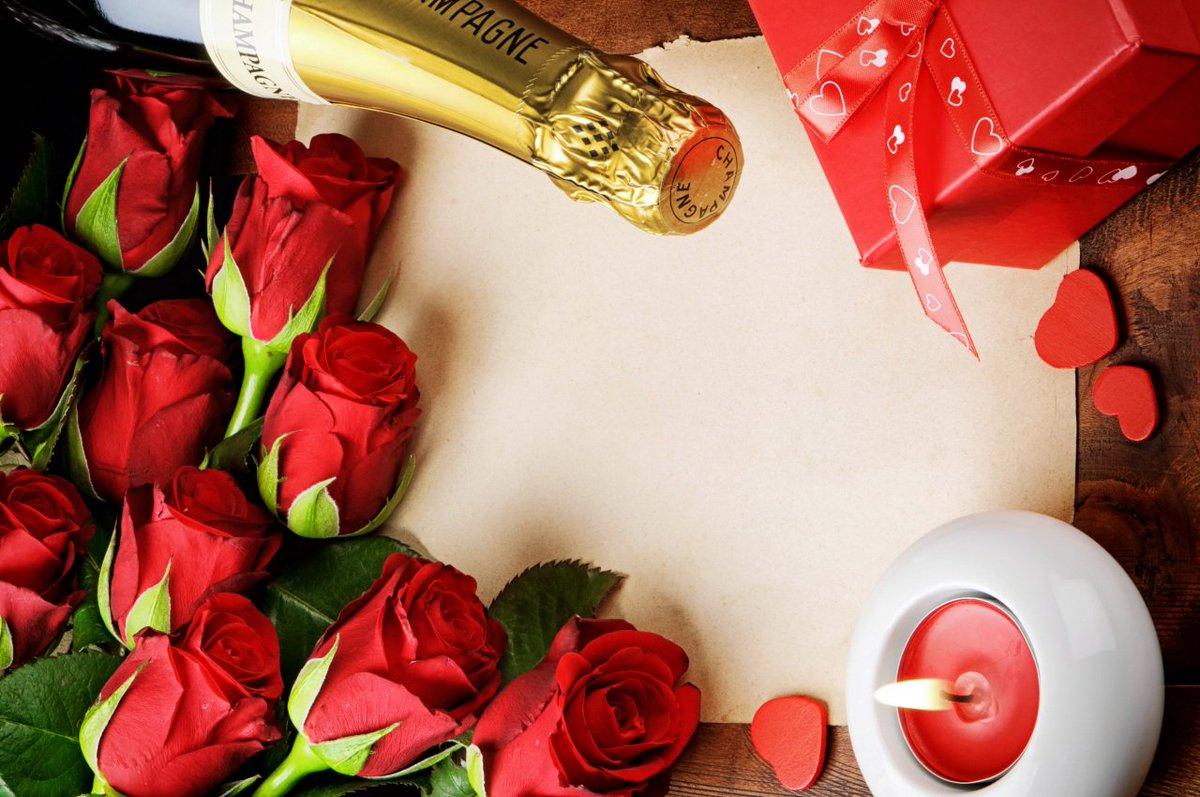 открытки с шампанским и цветами то, что