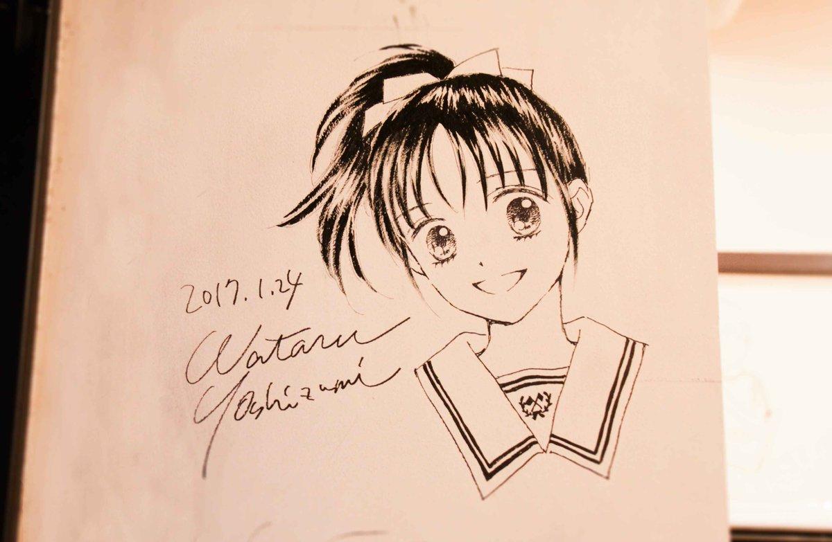 吉住渉先生がマンガミュージアムに来てくださったんだマン! カフェの壁にサインもいただいたマン♡  https://t.co/ByfpIXHroJ https://t.co/nXbz9OMQ9Y