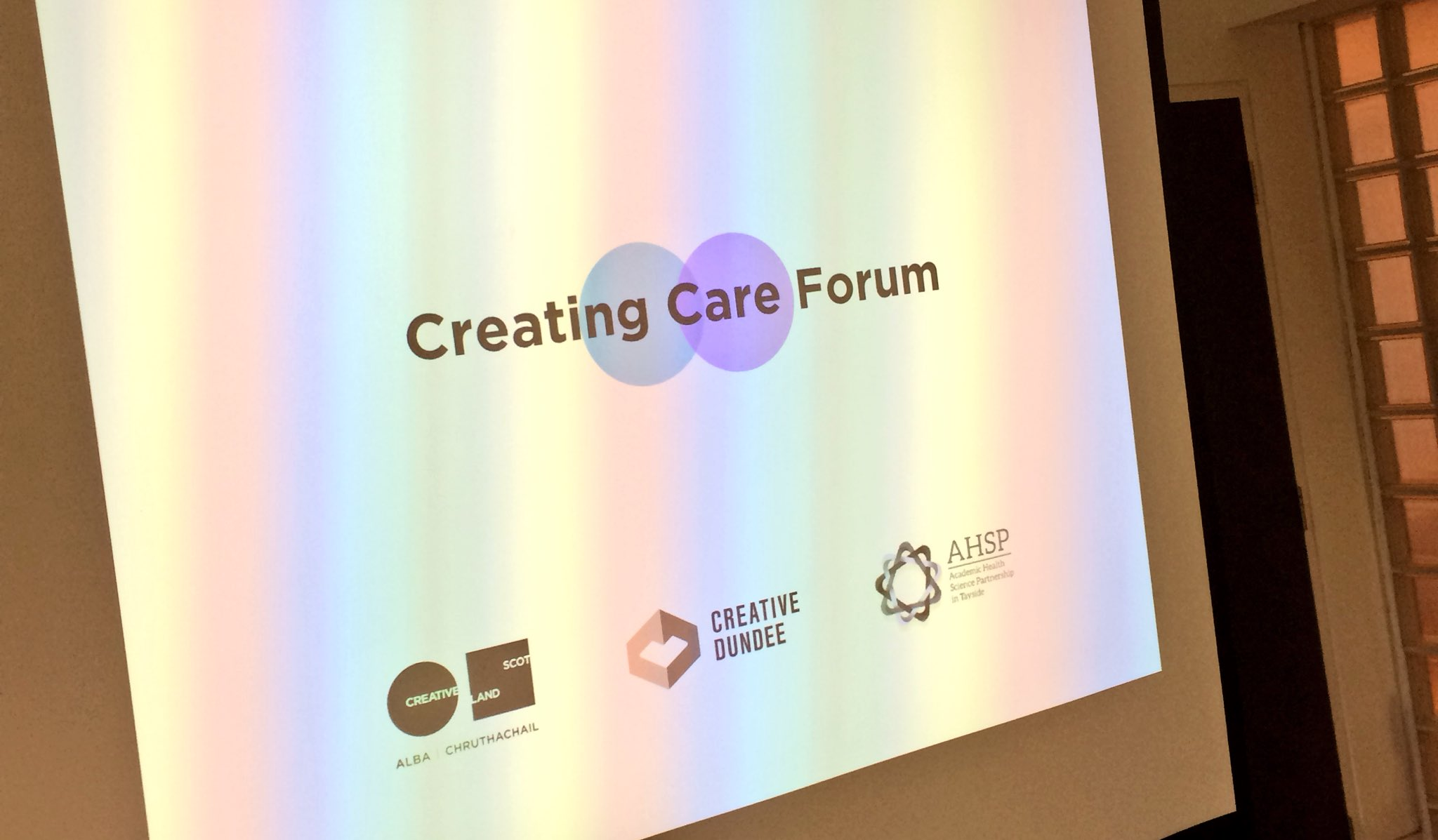 Getting ready for the start of #creatingcare with @Creative_Dundee and @RodneyMountain at @DCAdundee - healthcare meets design https://t.co/vMLgKwB3Xy