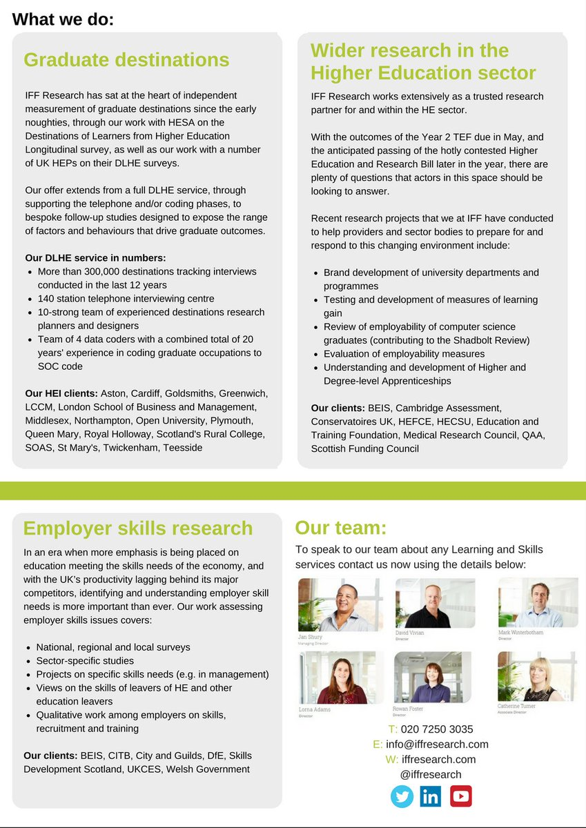 iff research on see how iff can help graduate iff research on see how iff can help graduate destinations employer skills research wider research in the highereducation sector below