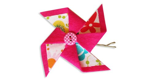 Easy Pinwheel Hair Clip Tutorial