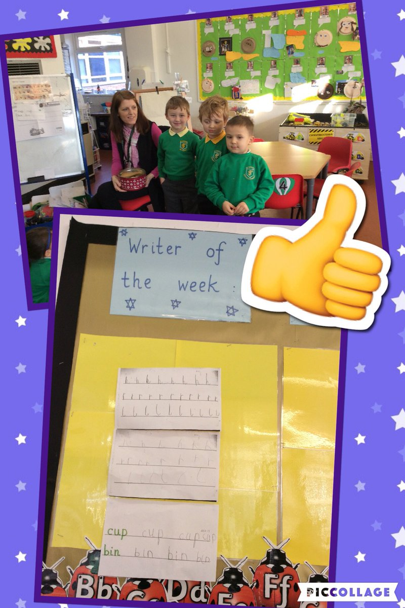 In Reception we had to choose three children for writer of the week! #sohardtochoose #brilliantboys