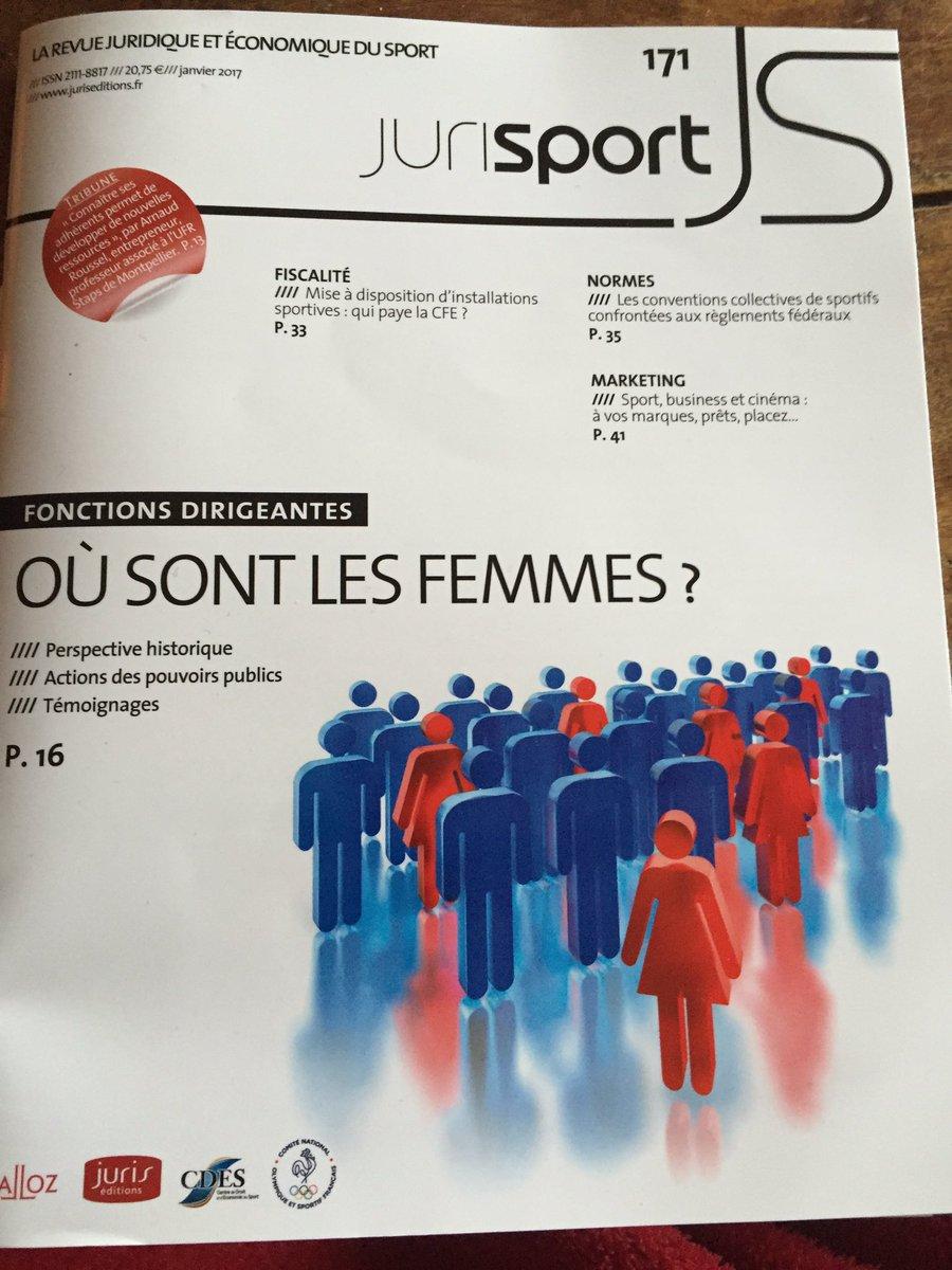 En ce jour #sport #femmes un beau dossier de #Jurisport du @CDESLimoges avec les sociologues C.Louveau, C.Chimot notamment !<br>http://pic.twitter.com/mHXlu8QGyr