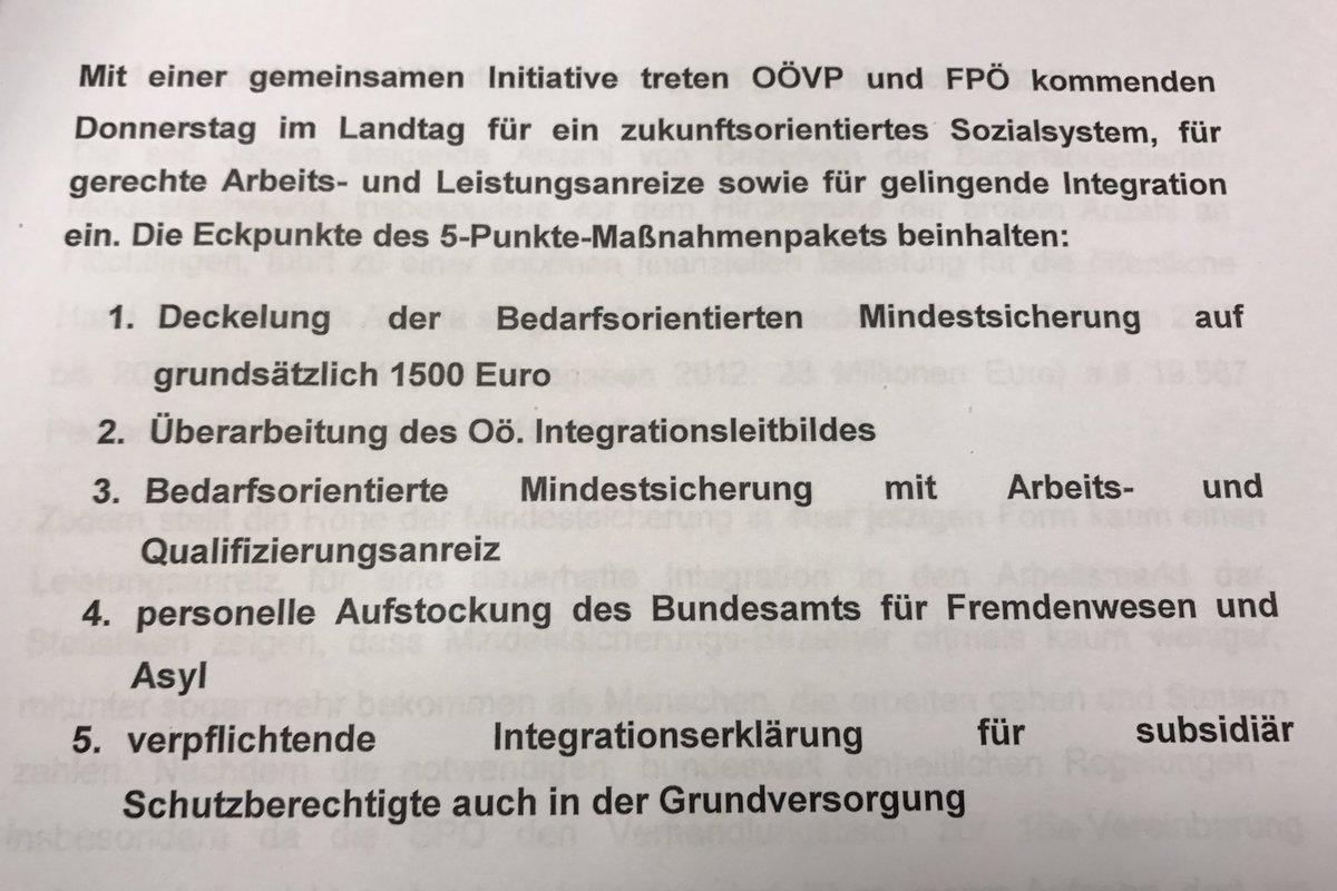 OÖ (#ÖVP und #FPÖ) verschärfen die Mindestsicherung erneut - die Detai...