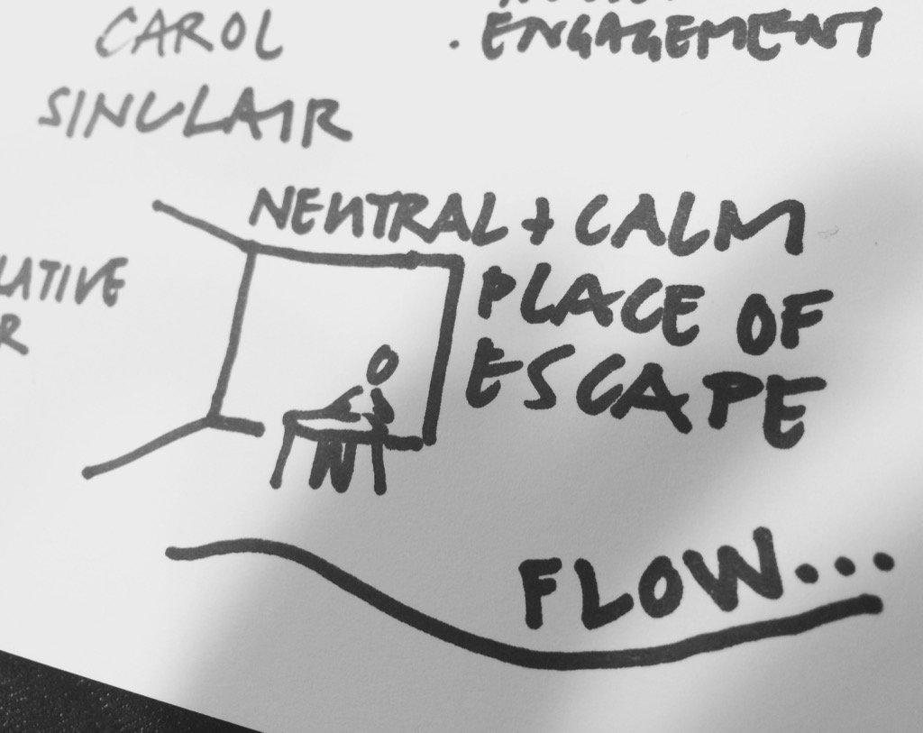 Carol Sinclair #creatingcare through neutral, calm spaces for dementia carers https://t.co/cO3oCr6G5e