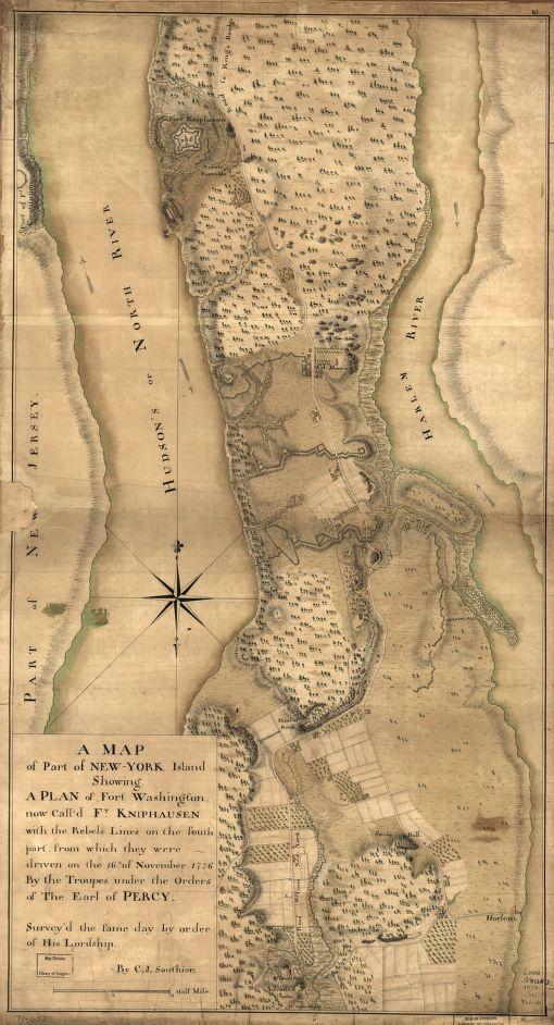 Fort Washington Map.Locmaps On Twitter 1776 Map Of Upper Manhattan Showing Fort