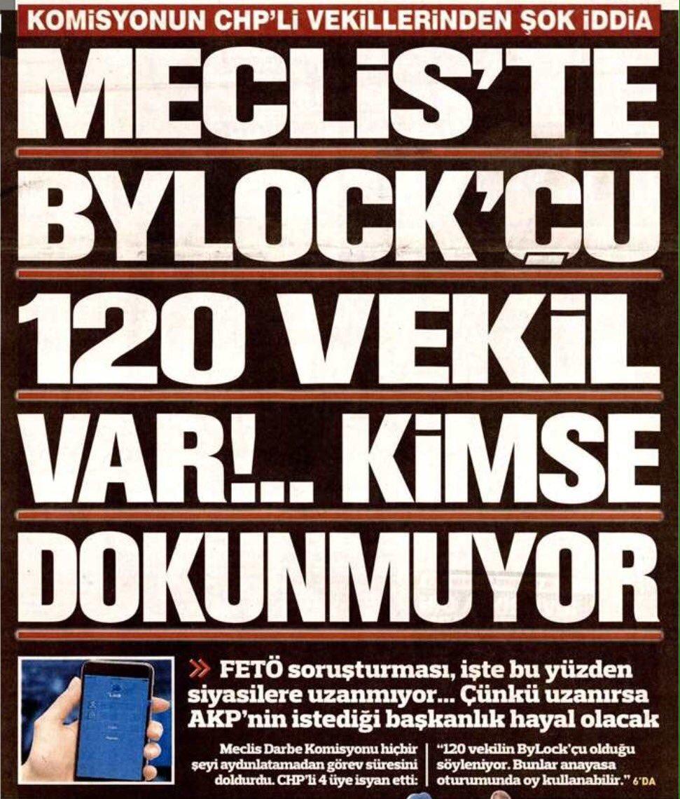 #SORUYORUZ  Meclis'te BYLOCK'cu 120 vekil var,neden kimse dokunmuyor.?...