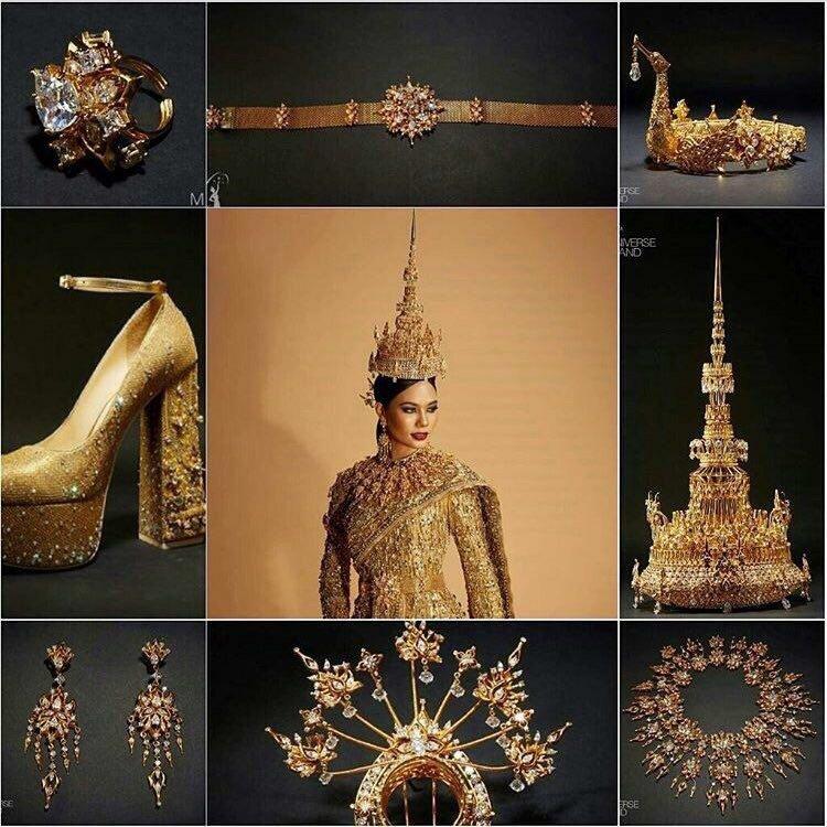 ชุดประจำชาติไทยสวยงามอลังการมาก โหวตไทยไนเวทีโลกด้วย 2 แฮชแท็กนี้เลยครับบ #Thailand #MissUniverse
