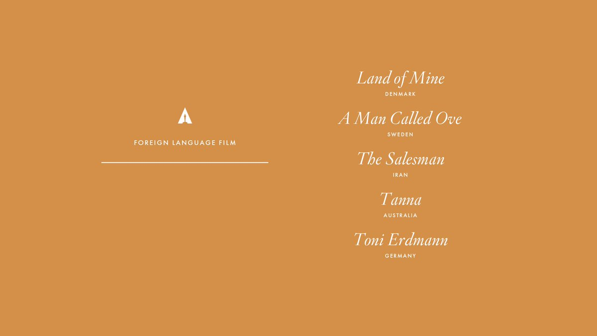 Congrats to our Foreign Language Film nominees! #Oscars #OscarNoms htt...