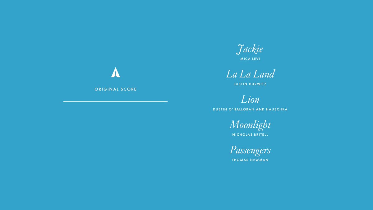 Congrats to our Original Score nominees! #Oscars #OscarNoms https://t....
