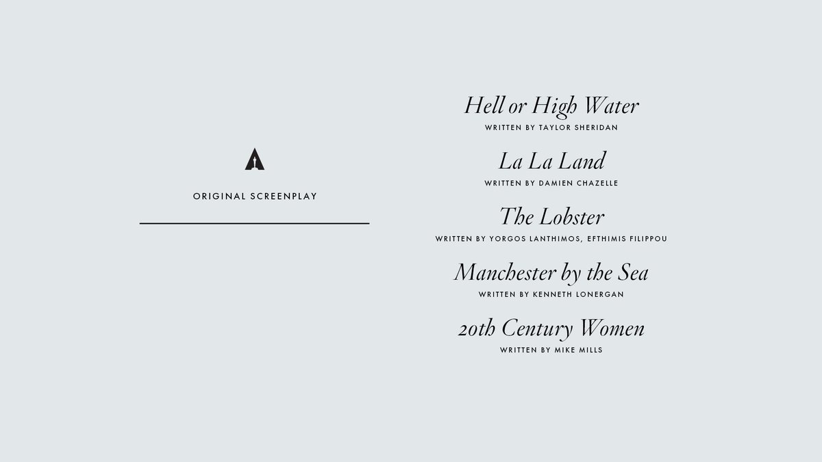 Congrats to our Original Screenplay nominees! #Oscars #OscarNoms https...