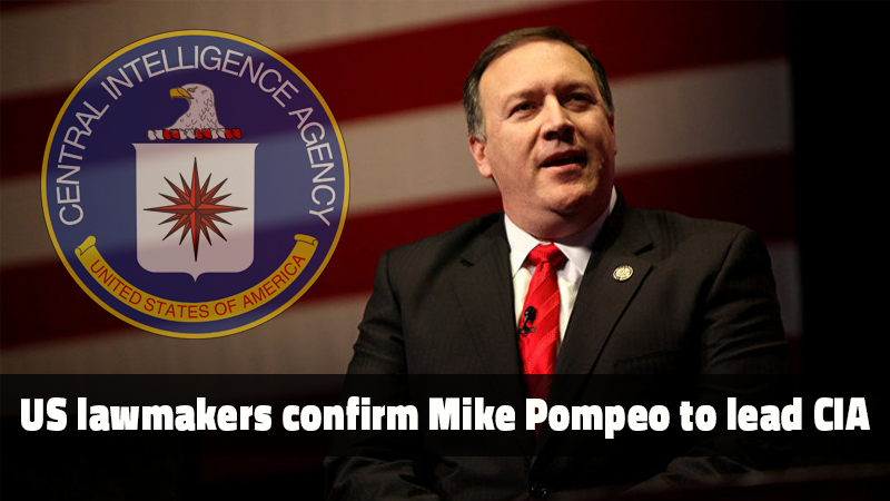 Lawmaker Mike Pompeo received Senate backing Monday to lead America's...