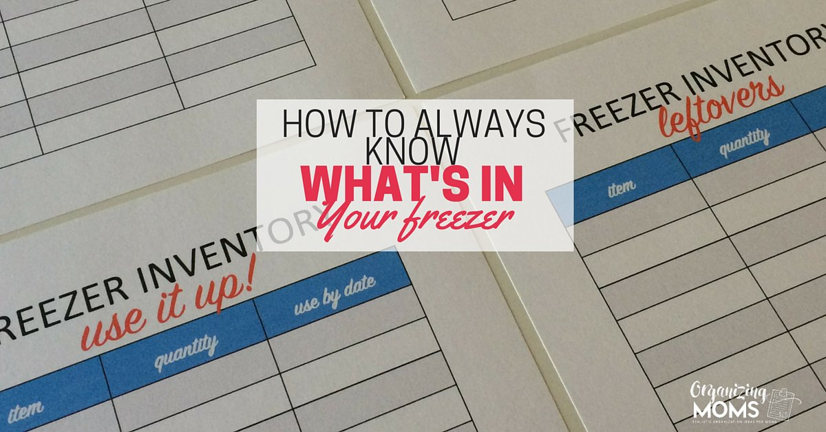 Looking for tips on how to organize your freezer? This will help! #org...