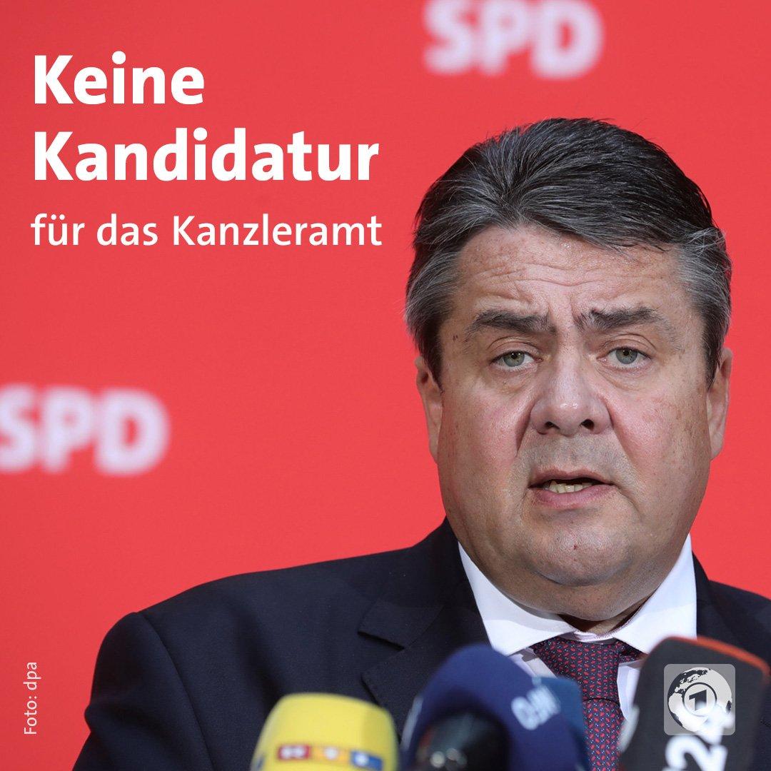 Sigmar #Gabriel wird nicht Kanzlerkandidat der SPD. Er gibt laut  ARD-...