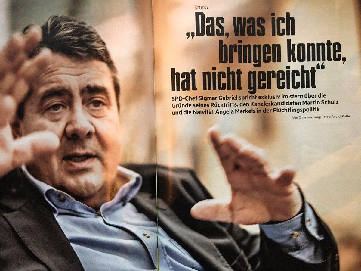 #stern exklusiv - #Gabriel: 'Schulz steht für einen Neuanfang. Und dar...