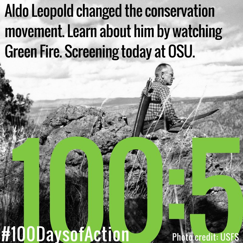 #100DaysofAction:5 Watch @OSUEnvironment screening of Green Fire. You can host a screening, too. https://t.co/UA2sWVahfz #conservation https://t.co/aQN4mRKB1h
