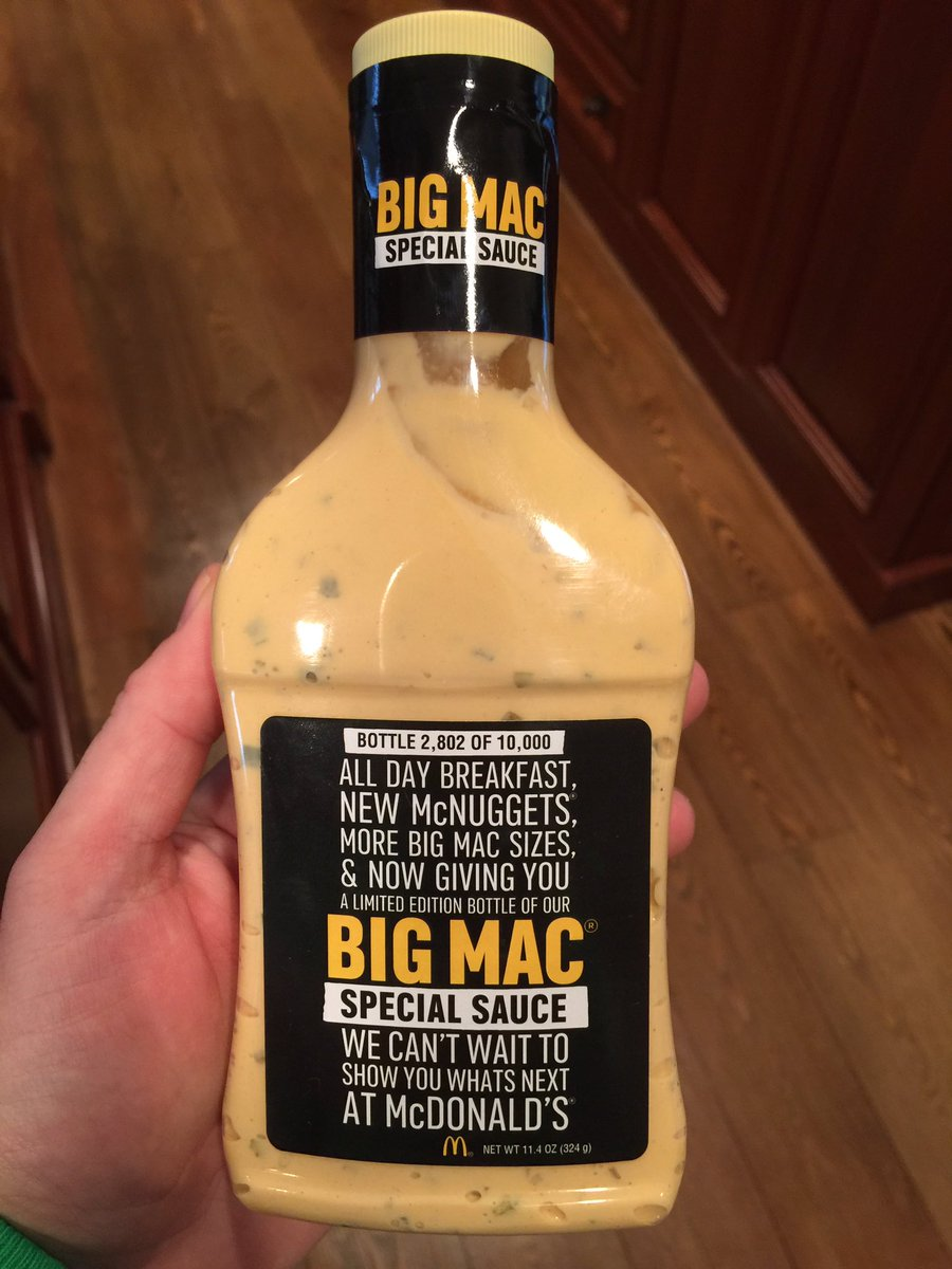 McDonald's has made 10,000 limited edition bottles of Big Mac sauce that it will give away this week. Is it just Thousand Island or not?