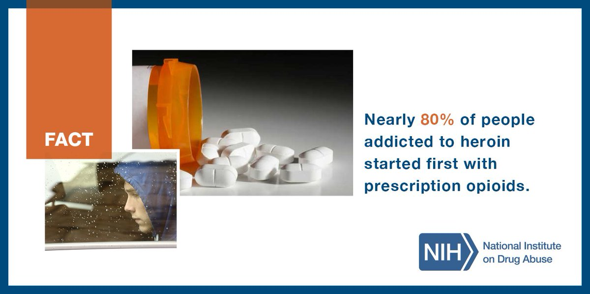 FACT: Nearly 80% of people addicted to heroin started first with #RX opioids. #NDAFW