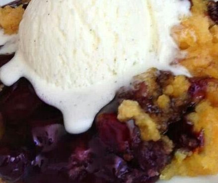 Blueberry Buttermilk Cobbler