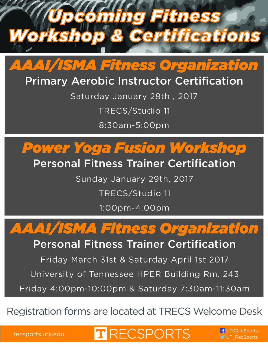 Utk Recsports On Twitter Dont Forget About These Upcoming Fitness