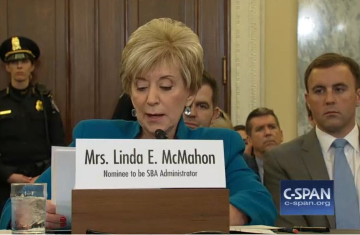 GOD BLESS THE LINDA MCMAHON https://t.co/Du3uXowtwM
