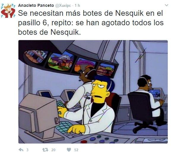 'Agotadas las reservas de Nesquik' https://t.co/D4gE0AQYeu #RedesSocia...