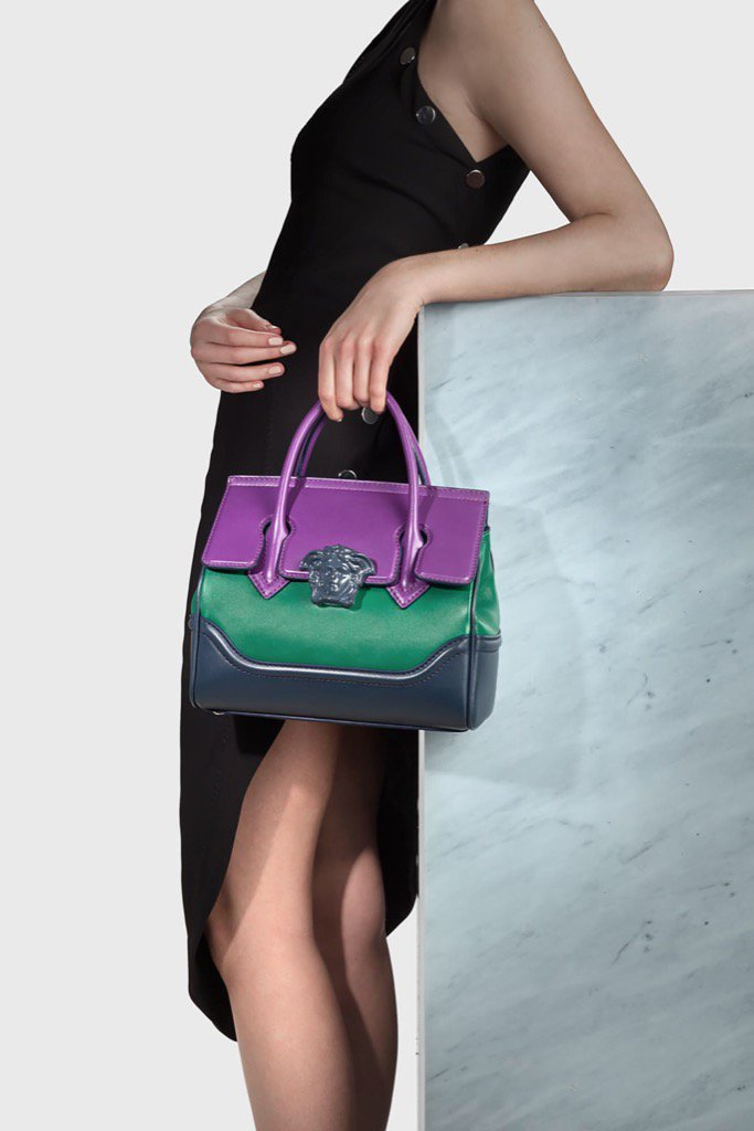 98753c6ffcf The Versace Palazzo Empire bag is now available in the most fashionable  colors of the season