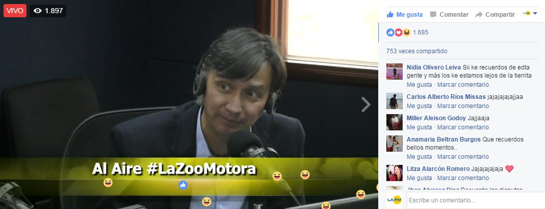 ¡ENVIVO #LaZooMotora!  Siga la transmisión EN VIDEO en el enlace https...