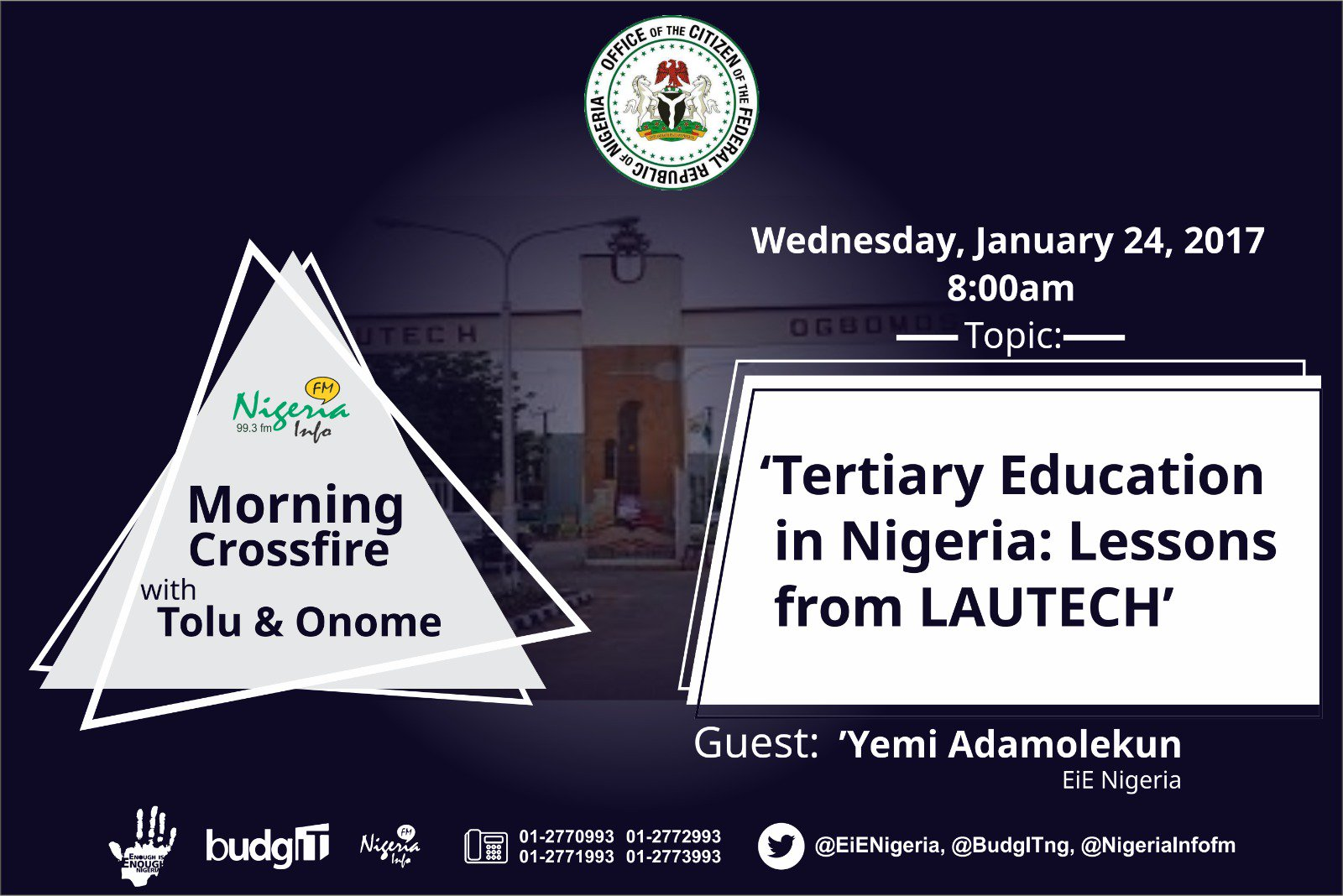 Thumbnail for #OfficeOfTheCitizen: Tertiary Education in Nigeria - Lessons from LAUTECH