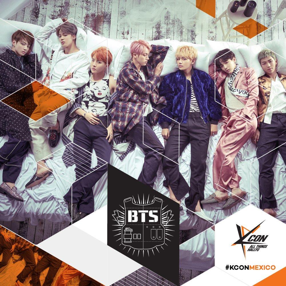 Para todos los q amamos el #KPOP #BTS estará en #KCONMEXICO