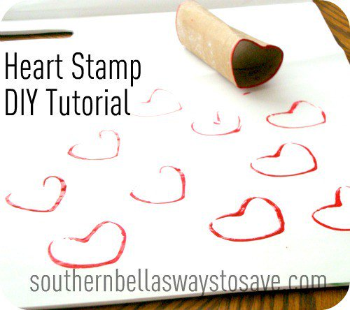 Valentine's Day Heart Stamp DIY Craft