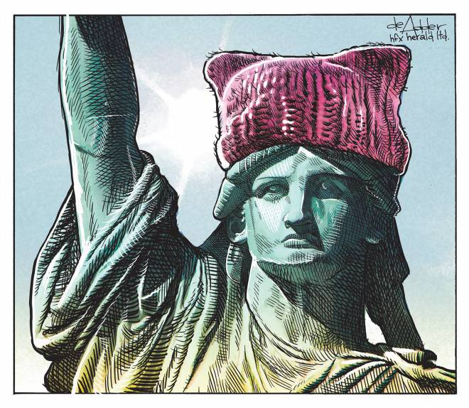 #pussyhat #Liberty #TrumpPressConference #KeystoneXL #MarchOnWashington