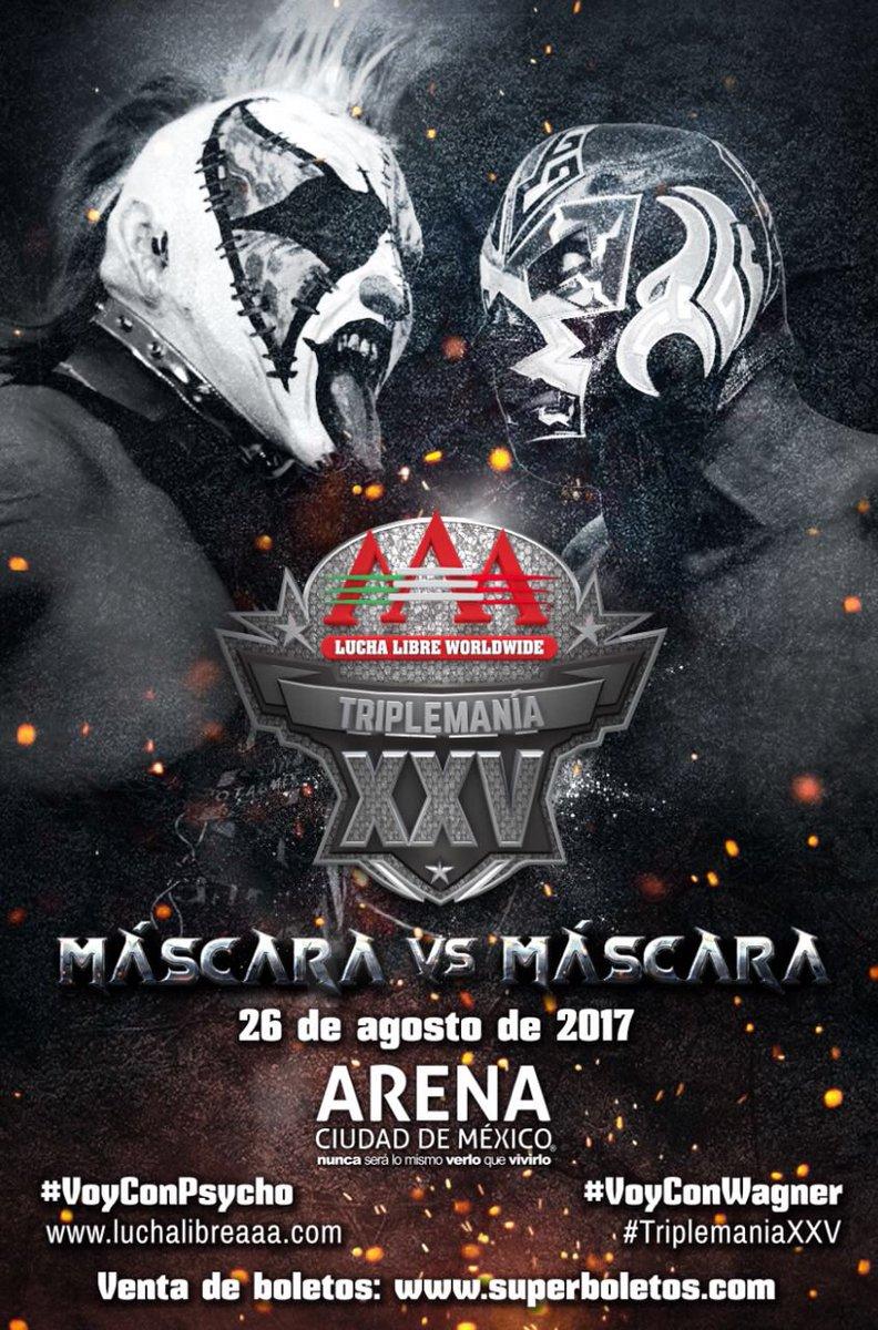 AAA: Disponibles los boletos para Triplemanía XXV en la Arena Ciudad de México 2
