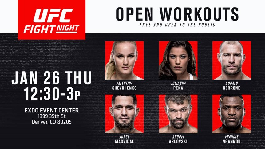 See y'all at open workout!! #UFCDenver 🤠