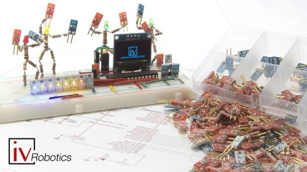 iResistors, iCapacitor&iLed adapted to Breadboard