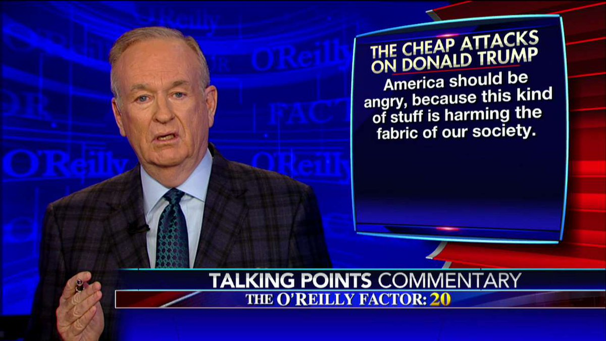 .@oreillyfactor: America should be angry, because this kind of stuff is harming the fabric of our society. #oreillyfactor <br>http://pic.twitter.com/EJ1cUQmNGX