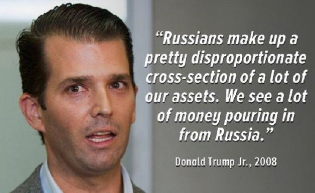 Yesterday Trump said he has no business interests in Russia and no loans. REALLY? You forgot to tell your son. #Ifinditshocking #TrumpLeaks <br>http://pic.twitter.com/TyR3iUYyvw